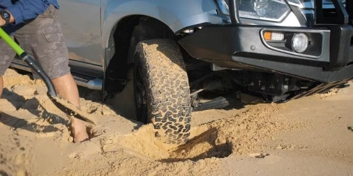 How to Get a Car Unstuck from Sand